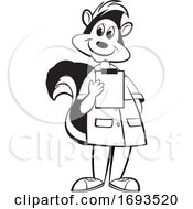 Scientist Skunk Holding A Clipboard