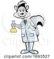 Scientist Skunk Holding A Flask