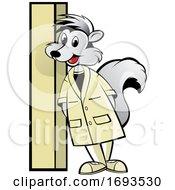 Scientist Skunk Leaning