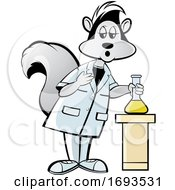 Scientist Skunk With A Flask