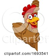 Chicken Rooster Cockerel Bird Cartoon Character