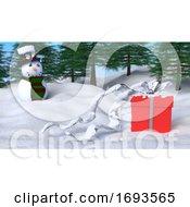 3D Christmas Winter Landscape
