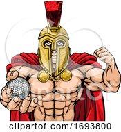 Poster, Art Print Of Spartan Trojan Golf Sports Mascot