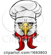 Eagle Chef Mascot Cartoon Character