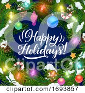 Winter Holidays Christmas Tree Lights Decorations