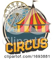Cirucs Big Top Tent And Ferris Wheel