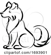 Calligraphy Styled Chinese Zodiac Dog by Vector Tradition SM