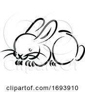 Calligraphy Styled Chinese Zodiac Rabbit