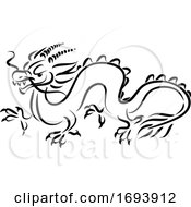 Calligraphy Styled Chinese Zodiac Dragon by Vector Tradition SM