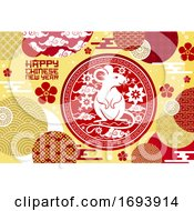 Poster, Art Print Of Chinese New Year Rat Or Lunar Animal Zodiac Mouse