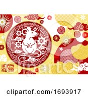 Poster, Art Print Of Zodiac Rat Or Mouse Animal Chinese Lunar New Year