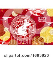 Poster, Art Print Of Chinese Lunar New Year Rat Or Mouse With Coins