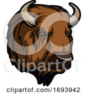 Bison Mascot Head by Vector Tradition SM