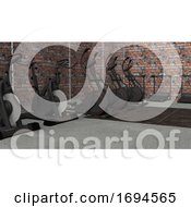 Poster, Art Print Of Cast Iron Dumbbell Weights