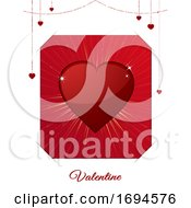 Poster, Art Print Of Valentine White And Red Card
