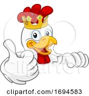 King Chicken Rooster Cockerel Bird Crown Cartoon