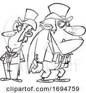 Cartoon Black And White Dr Jekyll And Mr Hyde