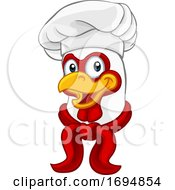 Poster, Art Print Of Chicken Chef Rooster Cockerel Cartoon Character