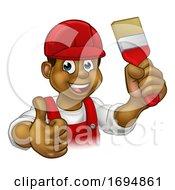 Poster, Art Print Of Painter Decorator Handyman Cartoon Man