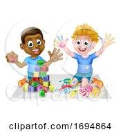 Poster, Art Print Of Boys Playing Having Fun