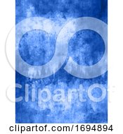 Blue Grunge Background With Scratches And Stains