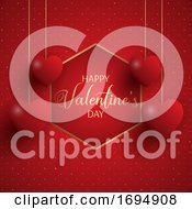 Poster, Art Print Of Elegantvalentines Day Background
