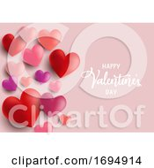 Poster, Art Print Of Valentines Day Hearts Background