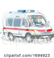 Paramedics In An Ambulance