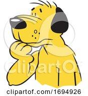 Cartoon Puzzled Dog