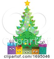 Christmas Tree Character With Gifts