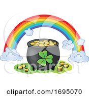 Leprechauns Pot Of Gold And Rainbow