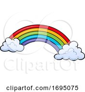 Rainbow Arch And Clouds