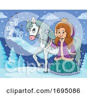 Winter Princess And Horse by visekart