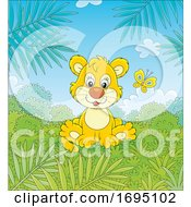 Lion Cub And Butterfly