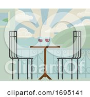 Poster, Art Print Of Drinks On Table Beach Vacation Holiday Restaurant