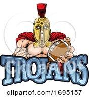 Poster, Art Print Of Trojan Spartan American Football Sports Mascot