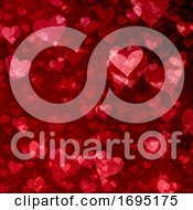Valentines Day Background With Grunge Hearts Design