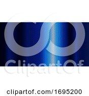 Blue Metallic Banner With Diamond Design