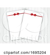 Poster, Art Print Of Valentines Day Background With Blank Letters With Red Gift Bows