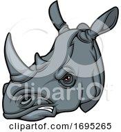 Poster, Art Print Of Rhino Mascot