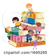 Stickman Kids Help Another Up Books Illustration