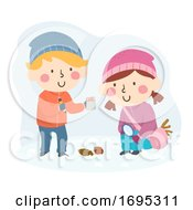 Kids Winter Scavenger Hunt Illustration