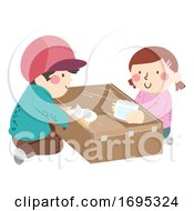 Kids Glove Box Illustration
