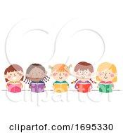 Kids Girls Book Illustration