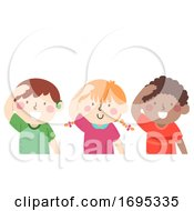 Kids Mute Hello Gesture Illustration