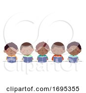 Kids Boys African Read Book Illustration