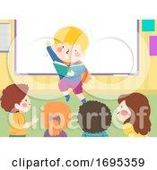 Kids Storytelling Action Super Hero Illustration