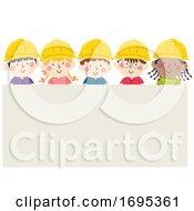 Kids Construction Engineers Board Illustration