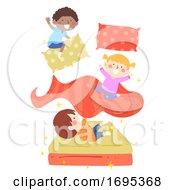 Kids Magic Bed Illustration