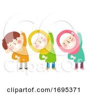 Poster, Art Print Of Kids Muslim Exercise Illustration
